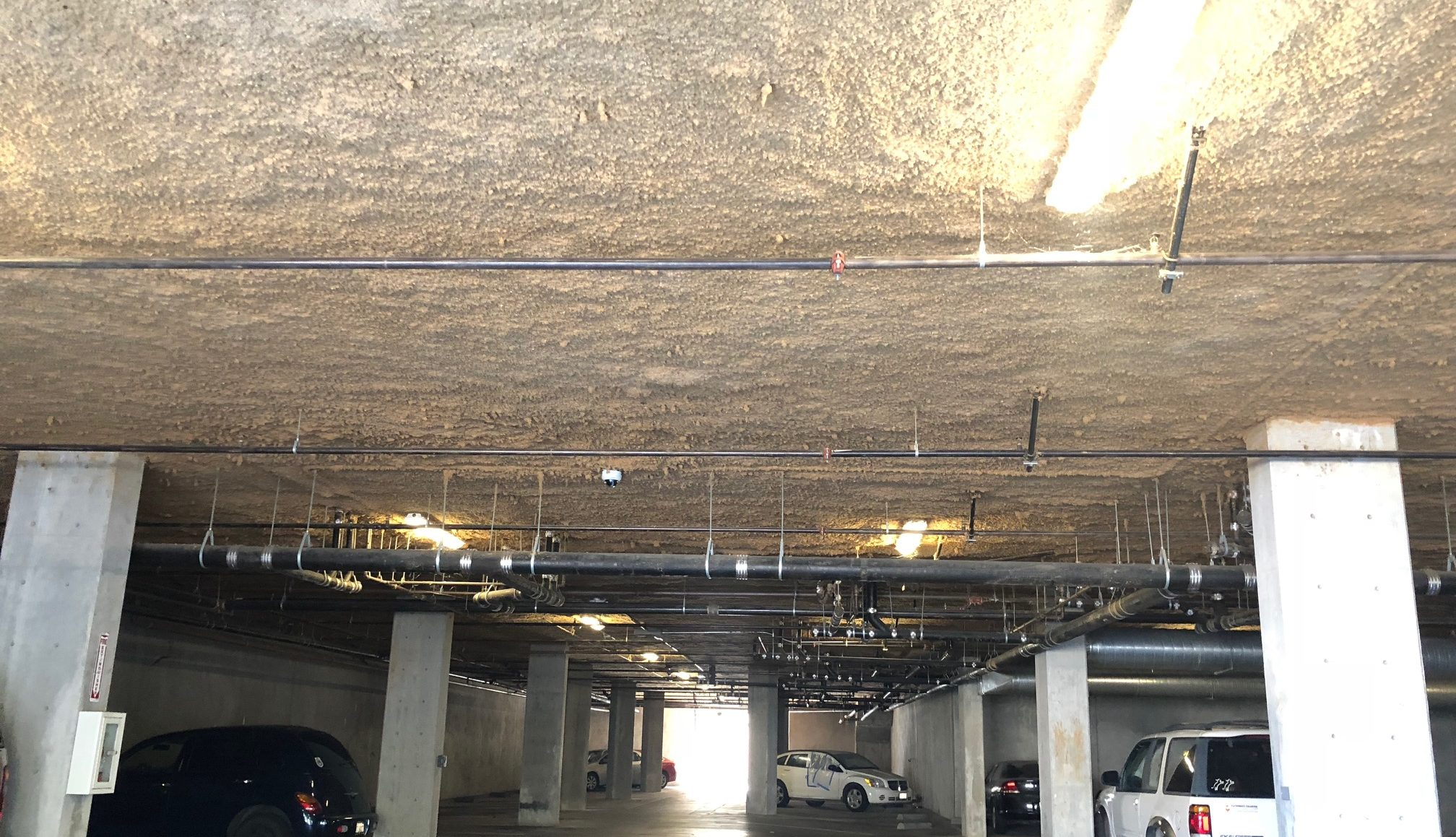 insulation for a parking garage